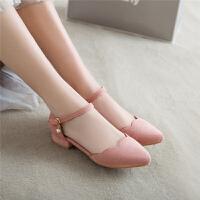 女大童高跟鞋儿童凉鞋6-7-8-9岁小孩包头公主鞋韩版女孩礼服童鞋SN3143 30 订做三天