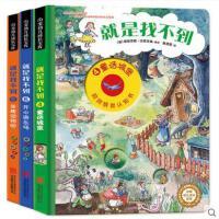 德国经典全景认知书就是找不到情景洞洞书第二辑3册看图找东西的图画书幼儿童硬皮绘本0-3-6-7周岁专注力训练书益智力开