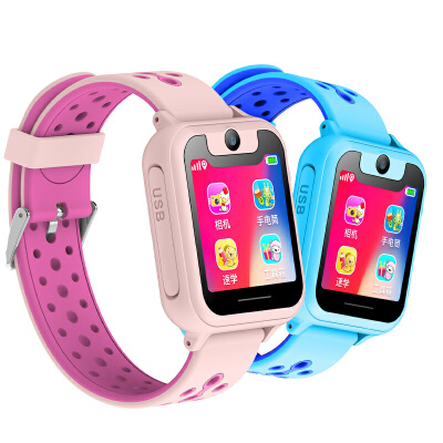 儿童电话手表安全定位通话全面屏多功能男女孩儿童手表智能手表手机 支持移动联通 独立插卡 远程拍照 精准定位