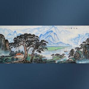 实力派彩墨画家  王红彦  雅居图六尺   2-89