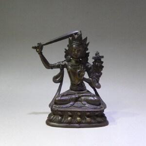 铜文殊菩萨坐像