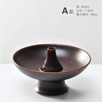 创意陶瓷日式花器中华插花艺术茶室小原流花道花盘