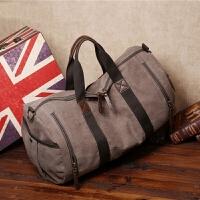 时尚手拎帆布包旅行男包韩版休闲包大容量单肩斜挎大包包手提包