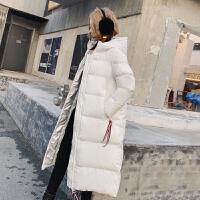 羽绒棉衣女冬中长款过膝加厚面包服韩版棉袄外套亮面