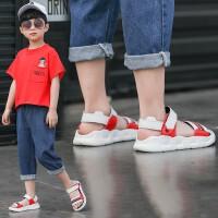 男童凉鞋2019新款夏季小孩学生儿童凉鞋真皮牛皮软底中大童沙滩鞋