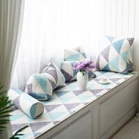 北欧简约几何坐垫棉麻薄款飘窗垫窗台垫榻榻米垫窗台装饰垫子 颜色如图(可发小样) 定制按平方计价(1.5厘米厚)