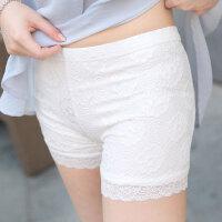 夏季新款女三分裤韩版舒适松紧腰蕾丝外穿安全裤防走光打底裤短裤