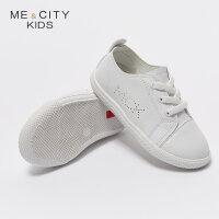 【1件5折价:64.5,26日0点可叠券】米喜迪mecity童装夏男童简约单层舒适板鞋休闲鞋