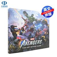 英文原版 漫威复仇者联盟游戏设定集 精装画册 Marvel Avengers Art of the Game 概念草图