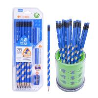 小鱼儿HB 2B铅笔儿童铅笔创意文具学生铅笔三角六角铅笔洞洞笔套装圆杆不易断