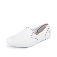 Lacoste法国鳄鱼女鞋时尚百搭休闲单鞋小白鞋 7-32SPW0122专柜正品