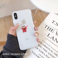 透明卡通软壳8plus苹果x手机壳XS Max/XR/iPhoneX/7p/6女iphone6s 6/6s 红色