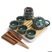 陶瓷整套功夫茶具套装配件干泡台茶盘茶叶罐旅行便携一壶四杯礼品