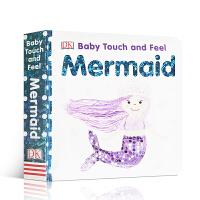 【全店300减100】英文原版纸板书 Baby Touch and Feel Mermaid 美人鱼DK出版 低幼宝宝启