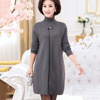 中年女装冬装长袖中长款打底羊毛衫妈妈装冬季连衣裙40-50岁