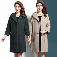中年女装秋装新款毛呢外套中长款40-50岁妈妈装宽松大码呢子大衣