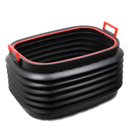 多用途折叠桶汽车后备箱置物箱伸缩收纳箱车载储物箱垃圾桶杂物盒