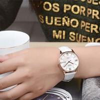 新款正品golgen古尊手表女机械表时尚女表潮流皮带防水腕表6147L