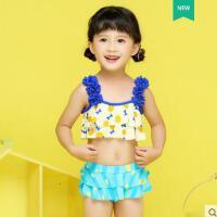 �敉� 新款�和�游泳衣女�B�w裙式小中大童泳�童女孩泳�b公主比基尼����