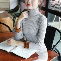 高领毛衣女加绒加厚打底衫修身衫保暖内搭上衣针织衫