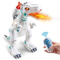 恐龙玩具仿真动物喷火电动智能机器人战龙大号遥控霸王龙儿童男孩抖音 喷火遥控恐龙 【1充电电池+遥控电池+螺丝刀】