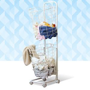 【领券】ORZ 浴室金属脏衣篮洗衣篮 脏衣服收纳筐家用收纳架衣物篮子脏衣篓桶