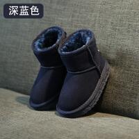 儿童雪地靴女童靴子2018新款冬季防水加绒中大童短靴男童棉鞋srr