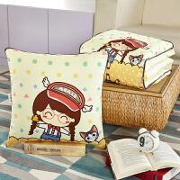 卡通动漫可爱两用抱枕被靠垫枕头被午休空调被办公室汽车靠枕礼品