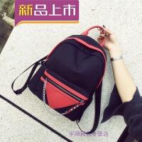 牛津布双肩包女潮新款韩版休闲学生书包女尼龙帆布背包