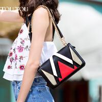 toutou2017夏天新款包包女明星同款创意斜挎包单肩链条包小方包潮