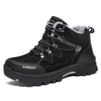 男士棉鞋男冬季保暖加绒老年中老年爸爸鞋加厚二棉老人运动休闲鞋真皮
