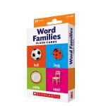 英文原版 Scholastic Flash Cards Word Families儿童启蒙早教自然拼读 字卡卡片闪卡