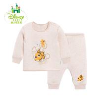迪士尼Disney秋冬婴儿彩棉套装肩开扣保暖内衣套装164T660