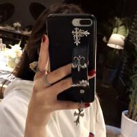 苹果X手机壳腕带iPhone6splus皮套个性创意7p新款8网红情侣女 iphone 6/6s(4.7)