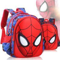 小学生书包一年级蜘蛛侠卡通儿童书包男孩2-4-6年级轻便防水背包
