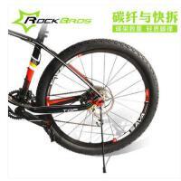 快拆碳纤维自行停车架单车配件车脚撑山地车后边支撑折叠