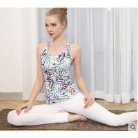 新款运动背心印花修身显瘦瑜伽服套装女瑜伽健身服