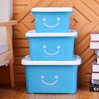 收纳箱塑料衣服玩具塑透明料整理箱大小号储物箱周转箱收纳