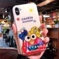芝麻街苹果X手机壳xsmax硅胶蓝光xr可爱iphone8plus/7/6s卡通女款