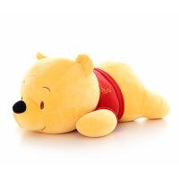小俏妞 小熊维尼熊公仔抱枕靠垫毛绒玩具玩偶大号抱抱熊朋友送女友礼物 趴姿维尼熊