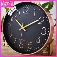 钟表挂钟客厅家用卧室现代简约大气个性创意时钟北欧石英钟静音表