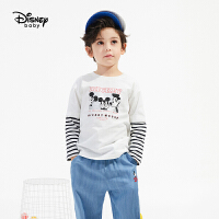 【3件4折券后预估价:50.8】迪士尼男童长袖T恤2021春装新款打底衫儿童宝宝帅气童装上衣