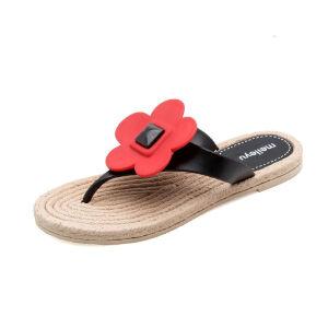 ELEISE美国艾蕾莎新品113-T2663甜美塑料平跟花朵女士凉拖鞋