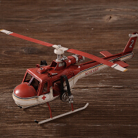 怀旧复古直升飞机型摆件精品铁艺家居创意摆件酒咖啡厅客厅酒柜个性装饰品