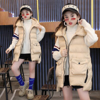 儿童装冬装女童棉马甲背心加厚洋气外套12大童坎肩棉衣秋冬款15岁