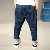 男童裤子秋款儿童牛仔裤韩版潮休闲薄款10岁童装春装长裤