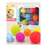 婴儿玩具摇铃3-6-12个月宝宝手抓球软胶抠洞洞球类小孩0-1岁 抖音 +不倒翁