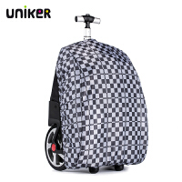 UNIKER/优丽克拉杆书包防雨罩18寸以内拉杆书包用防尘罩适用1500A 黑白格子