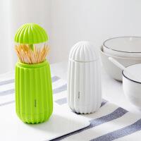 仙人掌个性牙签筒可爱卡通塑料便携牙签桶创意简约家用客厅牙签盒