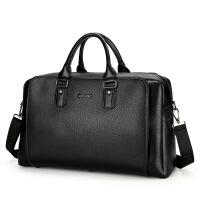 新款男士大容量手提包商务旅行包袋多功能外出公文包短途出差行李包百搭时尚休闲男包